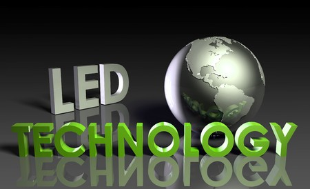 LED Modern Technology Abstract as a Concept  Stock Photo
