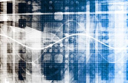 Futuristic Technology with a Digital Web Art
