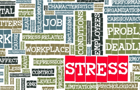 release: Stress From Job and Work Problem Concept