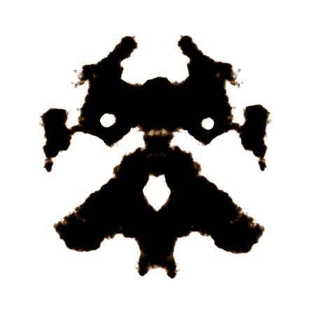 Rorschach Test of an Ink Blot Card 免版税图像