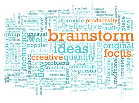 A Brainstorm Session Concept as a Abstract Archivio Fotografico