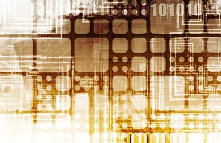 Futuristic Technology with a Digital Web Art Stock Photo - 7312886