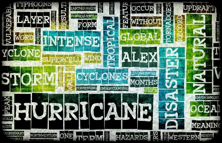 Hurricane Alex Disaster as a Art Background