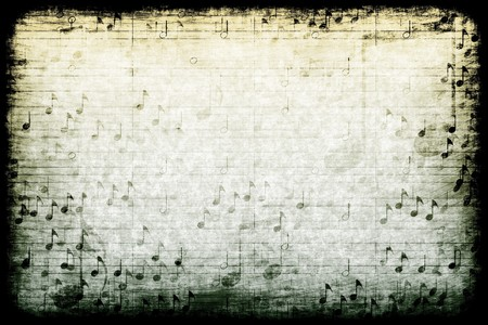 musical notes: A Music Themed Abstract Grunge Background Texture Stock Photo