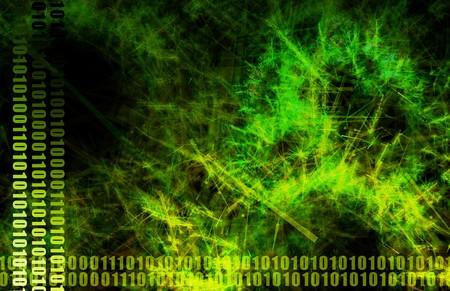 Green Web Data File Sharing Network Artwork 免版税图像