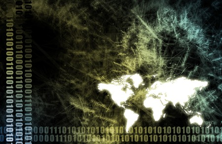 Futuristic Technology Data Flow as Art Abstract Stock Photo - 7330782