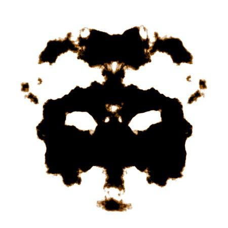 Rorschach Test van een inkt vlek Card