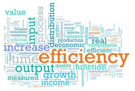 effizient: Effizienz in den Arbeitsplatz als ein Konzept