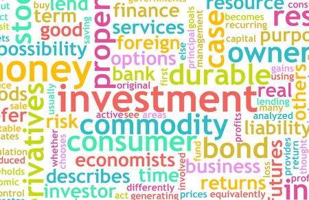 Investment Plan Terminology Background as a Art