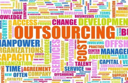 Outsourcing for a Company Concept as Background photo