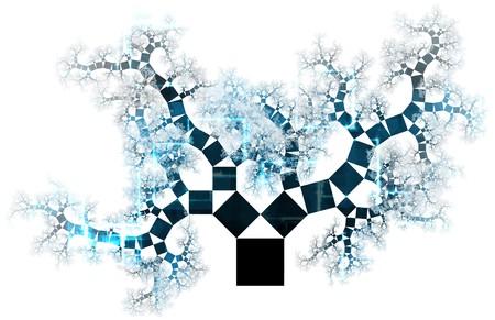 evoluer: Arbre de technologie avanc�e de croissance comme concept art