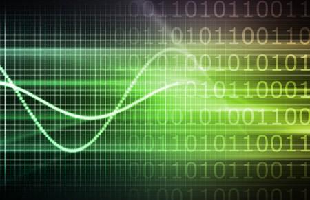 초록으로 정보 기술 데이터 네트워크