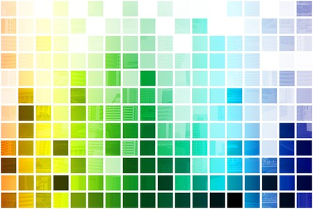 Colorful Simplistic and Minimalist Abstract Block Background Stock Photo