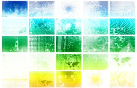 Futuristic Web Cyber Data Grid Color Background photo
