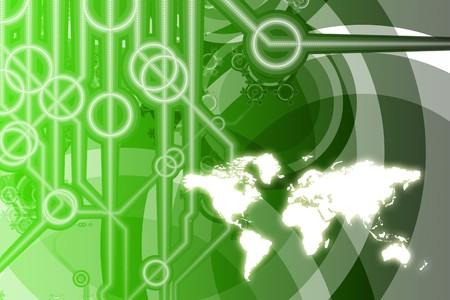 Resumen de Color Technology Business global en colores  Foto de archivo - 7345936
