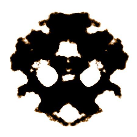 Rorschach Test of an Ink Blot Card Stock Photo - 7345930