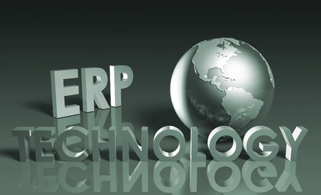 ERP Technology System Abstract as a Concept  photo