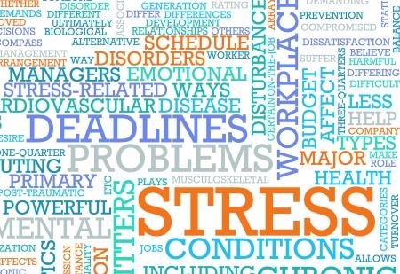 Estrés del concepto de problemas de trabajo y empleo