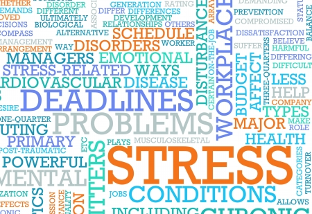 stressed: Stress From Job and Work Problem Concept
