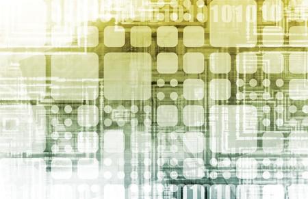 Futuristisch-Technologie mit einer Digital Web-Kunst Standard-Bild - 7345957