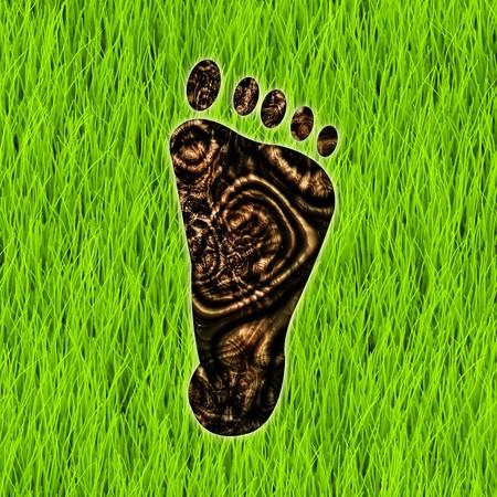 sustentabilidad: Reducci�n de huella de carbono como un arte de concepto