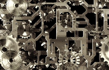 Mechanical Gears Background as a Engineering Art photo