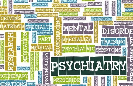 Psychiatrie Focus op geestelijke ziekte als Concept Stockfoto