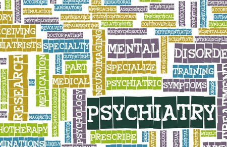 mentally ill: Psychiatry Focus on Mental Illness As Concept Stock Photo