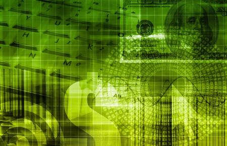 Grünes Geld Technologie Business Background als Kunst Standard-Bild - 7382111