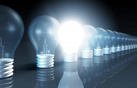 Innovatie als concept met een plotselinge inspiratie