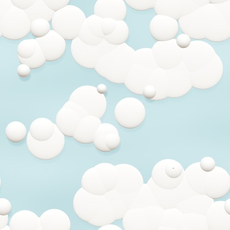 Seamless Cartoon Clouds Background in Sky Blue Stock Photo - 7382049