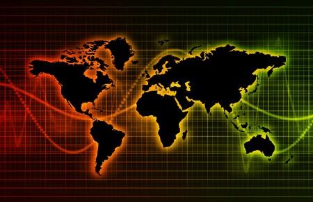 Technology Abstract World Background as Clip Art Фото со стока