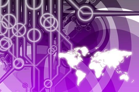 Resumen de Color Technology Business global en colores  Foto de archivo - 7382054