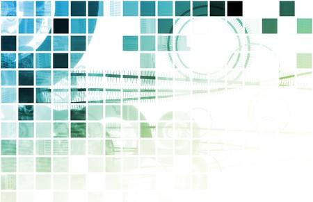 Blue Futuristische Abstract Background als Art