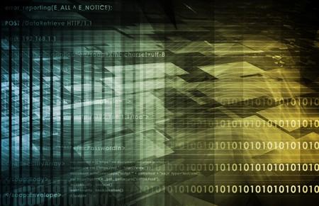 Futuristic Technology with a Digital Web Art Stock Photo - 7382118