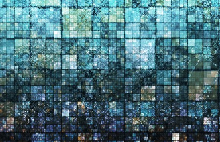 pixel art: Digital Pixels Background on Creative and Trendy Stock Photo