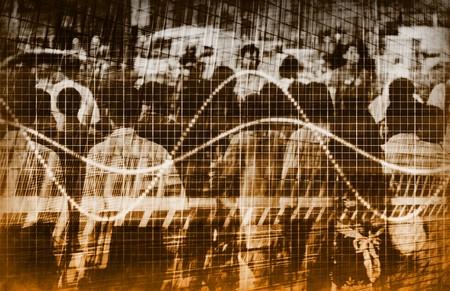 demographic: A Consumer Sales Demographic Graph Speadsheet Art Stock Photo