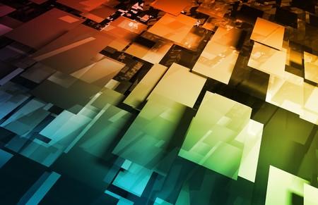 internet servers: Futuristic Technology with a Digital Web Art