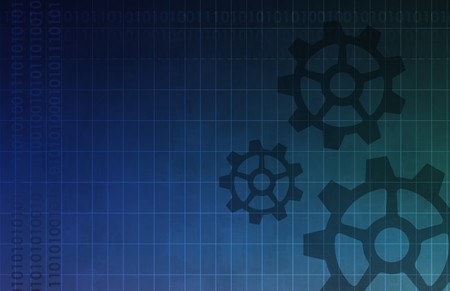 De achtergrond van een engineer ing met Kogge Gears Art