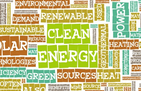energy sources: Clean Energy Concept Education as a Art Abstract Stock Photo