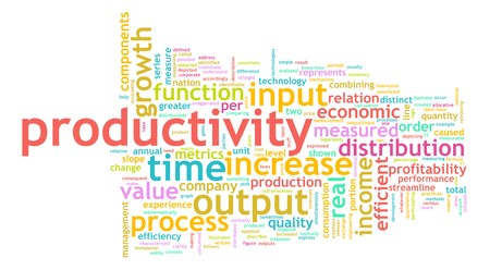 Productivity in the Work Place as a Concept Stockfoto