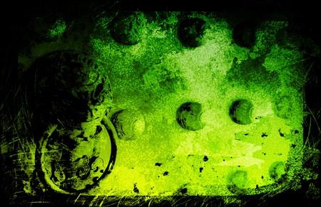 Grunge Ancient Chinese Dragon Door Textured Background