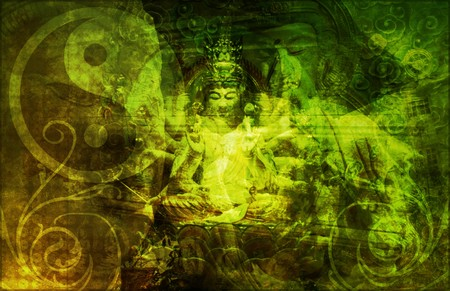 soothing: Asia Abstract Art Buddha as a Background Stock Photo