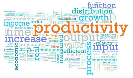productividad: Productividad en el lugar de trabajo como un concepto  Foto de archivo