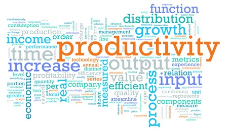 input output: Productivity in the Work Place as a Concept Stock Photo