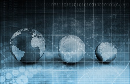 Network security: Security Network Data of the World Background Stock Photo