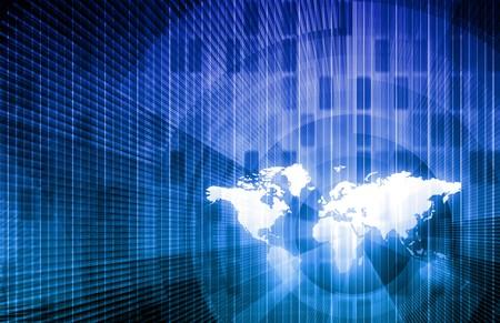 世界背景のセキュリティ ネットワーク データ