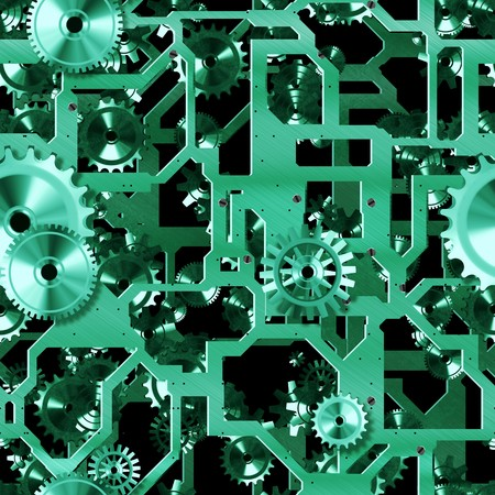 cogs: Seamless Mechanical Background with Cogs as Art Stock Photo