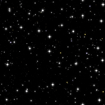 Seamless Starry Sky Background with Night Stars