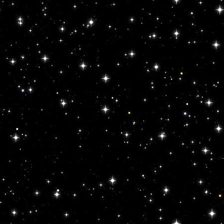 Seamless Starry Sky Background with Night Stars photo